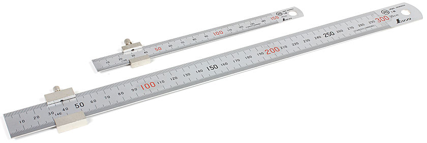SHINWA Steel Rules - with Ruler Stop