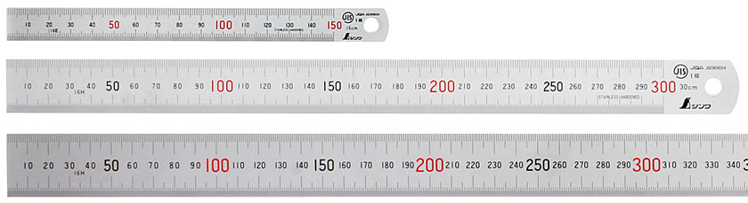 Measuring Ruler Scale Rule 2 Sided Metric Length MM CM INCH Stainless Steel