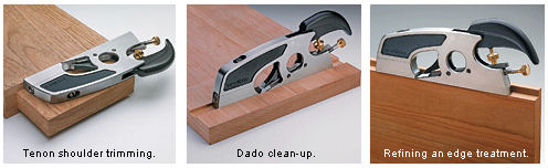 This is the ideal plane for Tenon shoulder trimming, Dado clean up, and refining an edge treatment