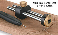 Compass Center with groove cutter
