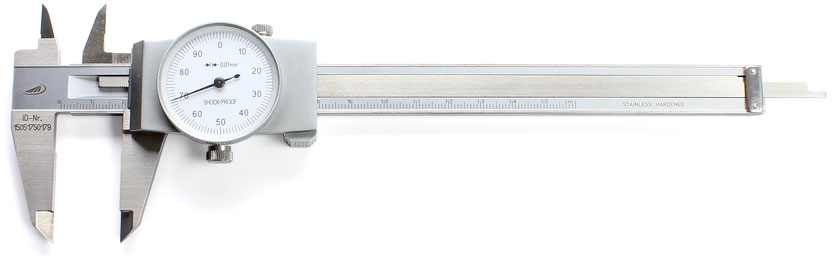 PREISSER-Uhrtaschenmessschieber Ablesung 0,01 mm