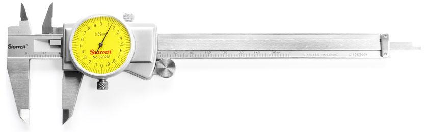STARRETT Calibro a nonio e a quadrante tascabile con vite di bloccaggio Accuratezza di lettura 0.02 mm