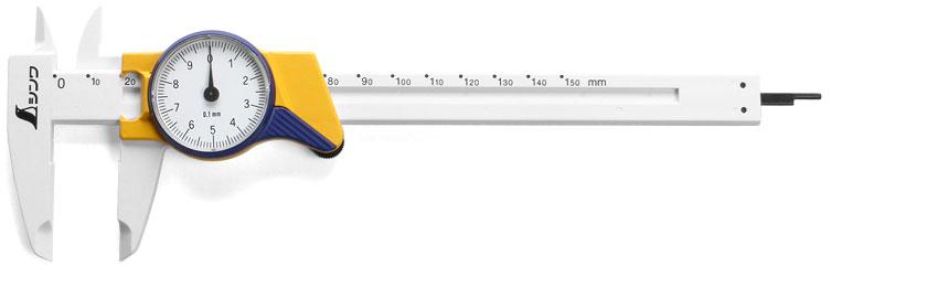 SHINWA Calibro a quadrante tascabile in fibra di vetro