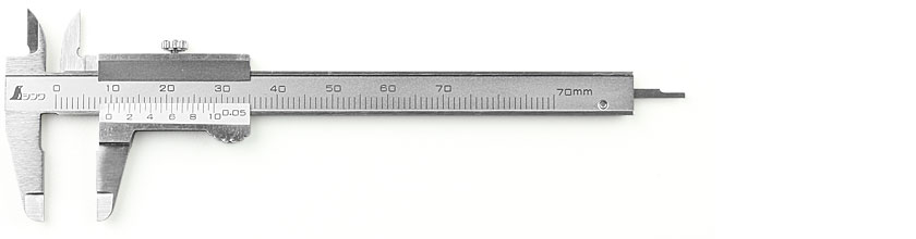 SHINWA Mini Vernier Pocket Caliper 70 mm