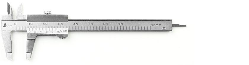 Calibro a corsoio tascabile in miniatura SHINWA da 70 mm