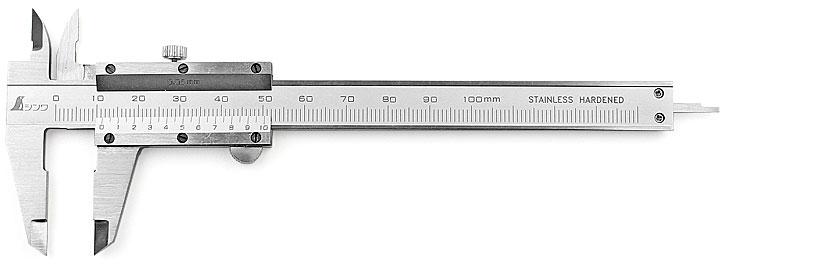 Calibro a corsoio tascabile in miniatura SHINWA da 100 mm