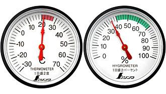 Thermometer und Hygrometer Set von SHINWA