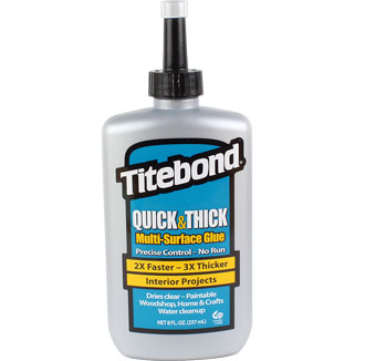 Titebond Quick & Thick Wood Glue