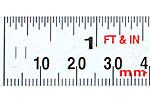 Adhesive-backed Steel Measuring Tape - mm / inch scale