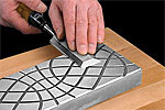 Steel honing plate, lapping plate, diamond flattening plate to flatten chisels, blades, plane soles