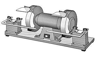 Tormek mounting set for BGM-100 bench grinder<br>Example: mount on both sides