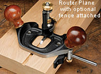 Router plane with fence