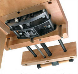 Mounts easily to the underside of a bench