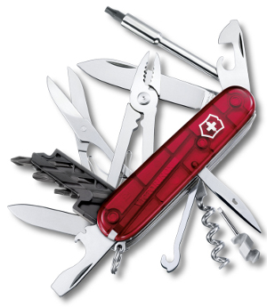 Taschenmesser CYBERTOOL M rot transparent