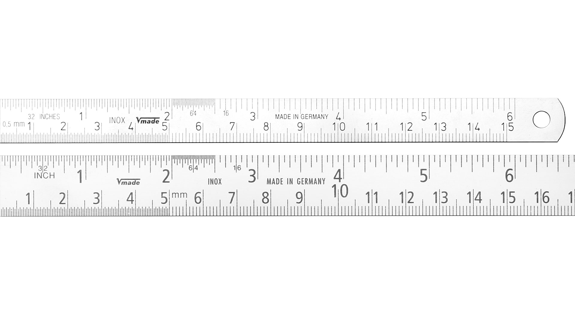 how to read the mm ruler