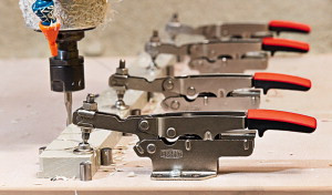 BESSEY Auto-Adjust Toggle Clamps with horizontal Lock Position and  horizontal Base Plate