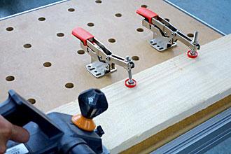 BESSEY Waagrechtspanner Spannweite 40 mm mit Befestigungsset für Multifunktionstische