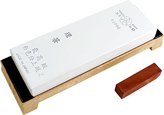 Suehiro Rika 5000 honing stone with holder