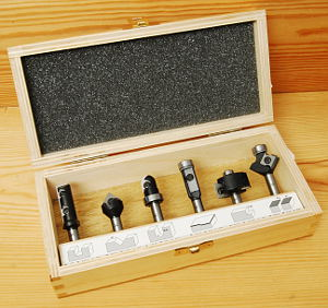 Set of 6 Insert Router Bits