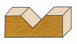 Wendeplatten-V-Nutfräser