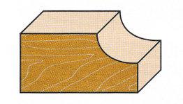 Wendeplatten-Halbhohlkehlfräser