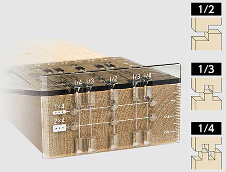 Miter Rule 3D 45° 90° Two-by-Four Clear (made of polycarbonate)