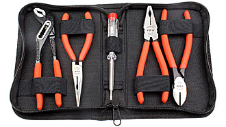 5-piece plier set in nylon pouch