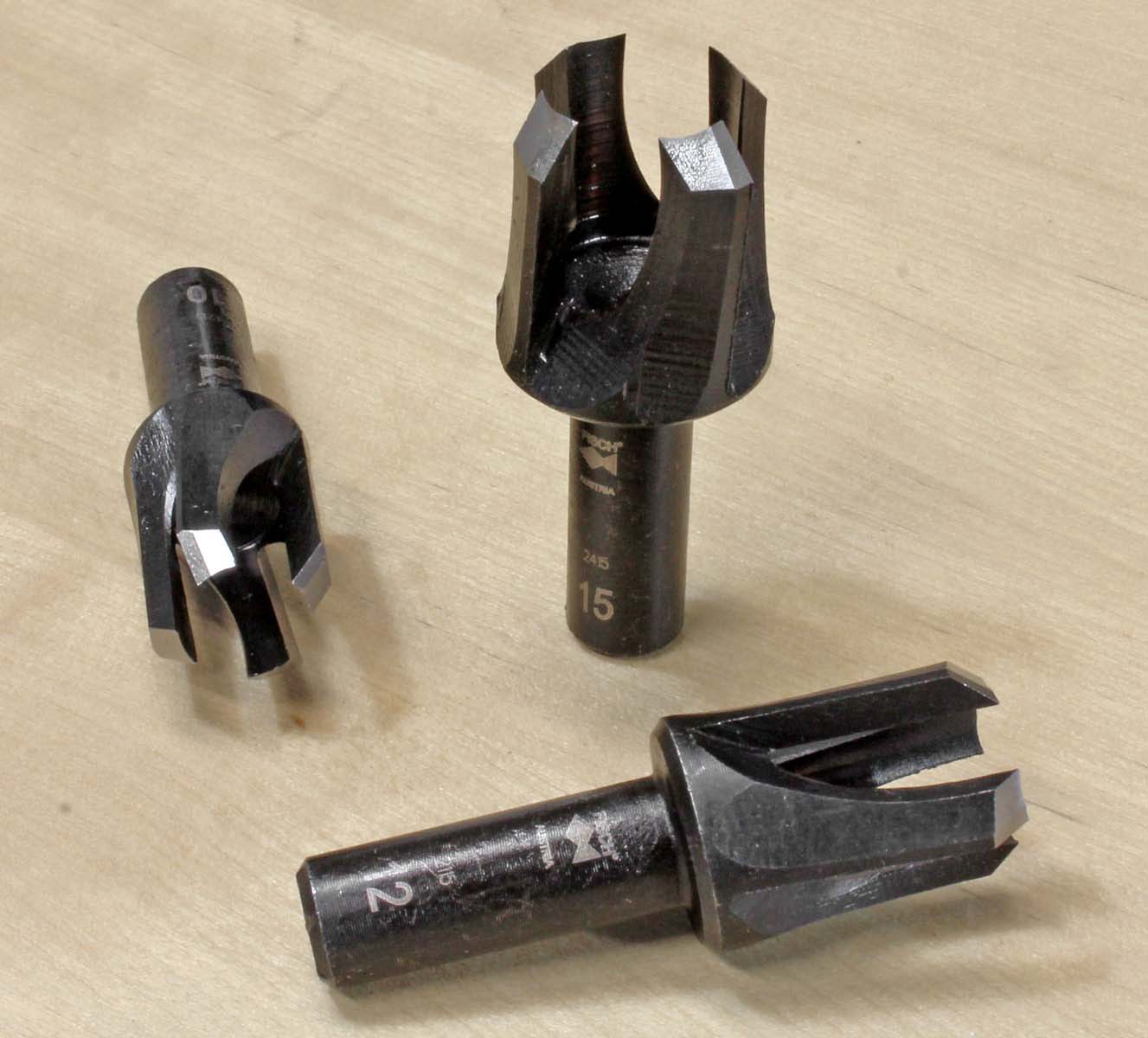 Tenon Cutters, Tapered Snug Plug Cutters | FINE TOOLS
