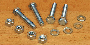 Set of Screws 1-1/2 x 1/4 inch